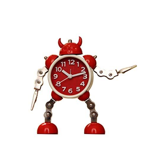 zxb-shop Reloj de Péndulo Robot deformado Reloj Despertador