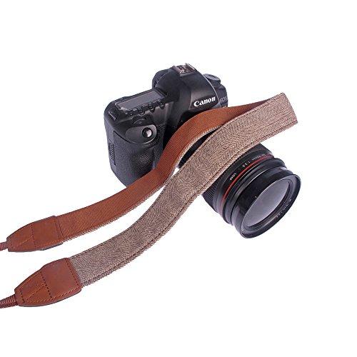 Andoer® Correa de hombro o cuello para cámara, vintage, para Sony, Canon, Nikon, Olympus, Panasonic, Pentax
