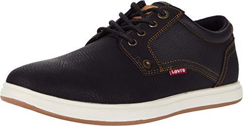 Levi's Mens Arnold Tumbled Sneaker Shoe, Black/Tan, 10.5 M