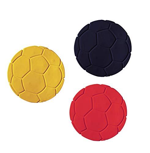 Ridder Glasuntersetzer Fußball (6 St.) schwarz/gelb/rot 10,4 cm