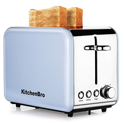Toaster 2 Slice, Compact Bread Toasters Stainless Steel Housing best rated prime, 2 Extra Wide Slots Mini Toaster,Stainless Steel Bagel Toaster