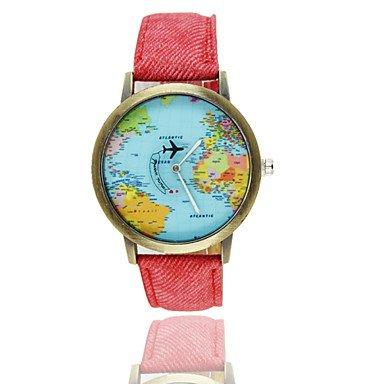 Relojes Hermosos, 2016 de lujo de la marca mujeres de los hombres avión mapa del...