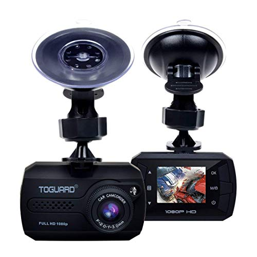 TOGUARD Mini Dash Cam Full HD 1080P Car Dash Cams DVR Dashboard Camera Built in G-Sensor Motion Detection Loop Recording(SD Card is NOT Included)
