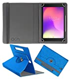 Acm Designer Rotating Leather Flip Case Compatible with Alcatel 3t 8 Cover St