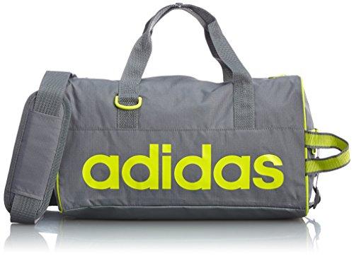 adidas Tasche Linear Performance Team, Vista Grey S15/Semi Solar Yellow, 15 x 37 x 20 cm, 13.6 Liter