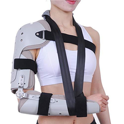 JMung Schulterbandage Ellenbogen ROM Ellbogenschiene, Ellbogenstütze mit Scharnier Anhängbare Ellenbogenbandage mit Sling, zur der Genesung Nach Verletzungen,Right