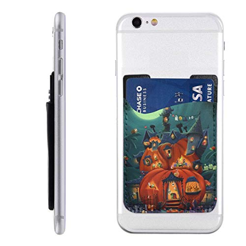 Best Witch Brooms Halloween Snail Parties Decoration Cell Phone Card Holder Stick On Wallet for Back of Phone Cute Adhesive Ultra Silim Phone Pocket ID Credit Card Holder Car Decor