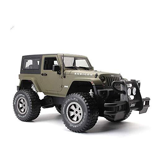 Ladan RC off-Road Jeep, 27MHz Radio Control Oversize Camion Big Foot Alpinismo scalatore Auto con LED Resistenza alla Caduta Robusta Ragazzo Esterno Regalo Preferito
