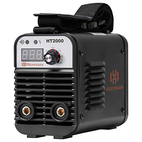 HZXVOGEN 110/220V MMA Welder Dual Volt Arc Stick Welding Machine 60% Duty Cycle Mini Portable Inverter Welder with Electrode Holder Earth Clamp 30A Cable Adapter (Model: HT2000) (Renewed)