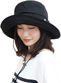 [ドリームハッツ] 帽子 レディース uv 折りたたみ 大きいサイズ つば広 紐 ひも 風通しよい UVカット帽子