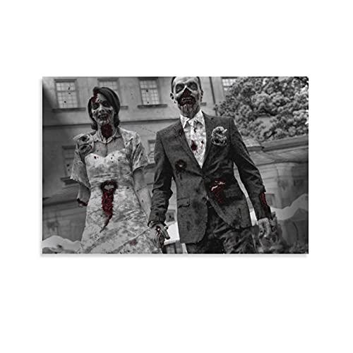 Poster su tela con stampa artistica su tela, motivo: The Walking WED Dead