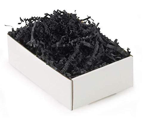 Papieren vulmateriaal krulpapier voor geschenken - 500 gr (zwart)