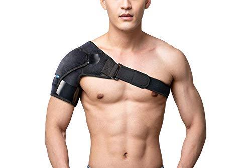 Branfit - Soporte de hombro y manguito rotador para hombres y mujeres de neopreno con almohadilla de presión es ideal para la articulación de CA dislocada y alivio del dolor de hombros congelados