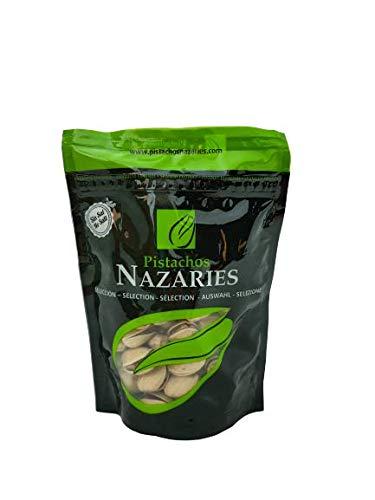 Pistachos Nazaríes - Pistachos Españoles de gran calidad, cuidadosamente seleccionados y tostados SIN SAL. (Pack de 8 bolsas de 120gr cada una)