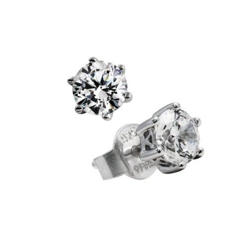 Diamonfire Damen-Ohrstecker 925 Sterling Silber Zirkonia Carats Linie weiß 62/1267/1/082
