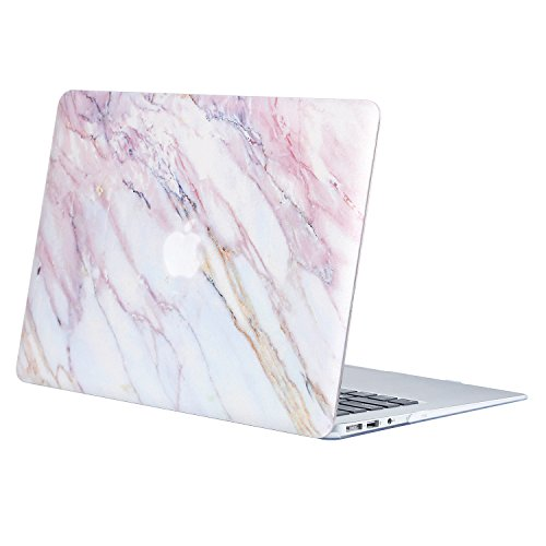 MOSISO Ultra Slim Plastic Hard Shell Snap On Case Cover Compatible with MacBook Air 11 Inch (A1370 & A1465), Pink Marble