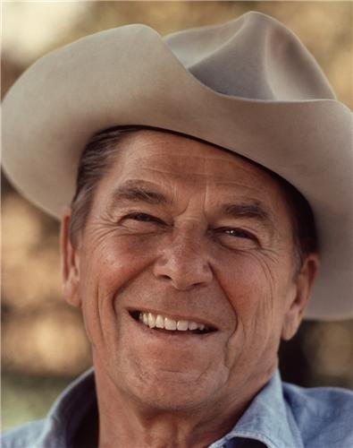 ConversationPrints Ronald Reagan Cowboy HAT Glossy Poster Picture Photo President United State