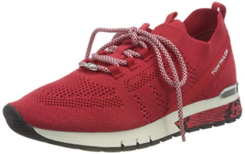 TOM TAILOR Damen 1191101 Sneaker, red, 39 EU