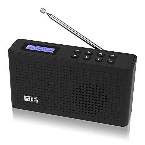 Ocean Digital Radio por Internet con Wi-Fi Dab Dab +   FM con Receptor Bluetooth, Altavoz, Radio compacta con batería Recargable para Huerta (WR26)