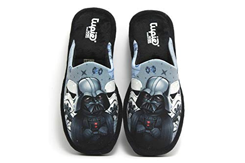 tupie - IR Hausschuhe Star Wars, Darth Vader und Stormtroopers, Star Wars, Parkett, für: Kinder, Schwarz - Schwarz - Größe: 39 EU