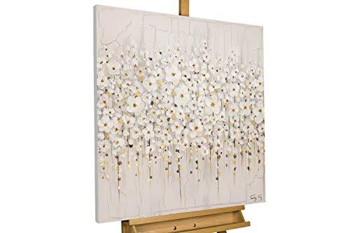 KunstLoft® Acryl Gemälde 'Versammlung der Blumen' 80x80cm handgemalt Leinwand Bild