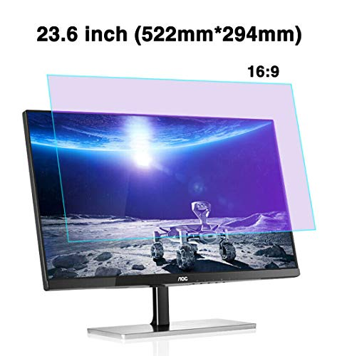 Best Bargain JAY-LONG 23.6 Inch (16:9) Anti-Blue Light Computer Screen Protector/Anti-UV/Anti-Radiat...