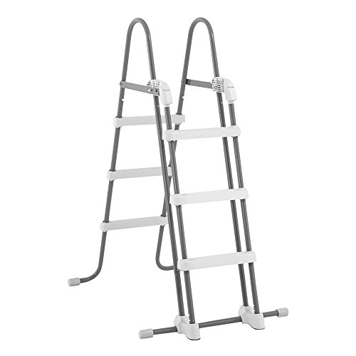 Intex Deluxe Pool Ladder with Removable Steps for 36-Inch and 42-Inch Wall Height Above Ground Pools