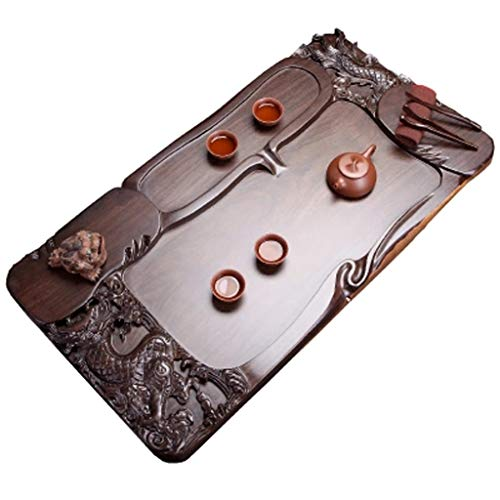 Fantastic Deal! Tea Sets Tea tray Chinese Kung Fu tea tray home fashion solid wood tea tray Black an...
