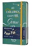Moleskine de Peter Pan Edición Limitada, Cuaderno de Rayas con Gráficos y Detalles Temáticos de los Indios, Tapa Dura, Tamaño de Bolsillo 9 x 14 cm, Verde, 192 Páginas