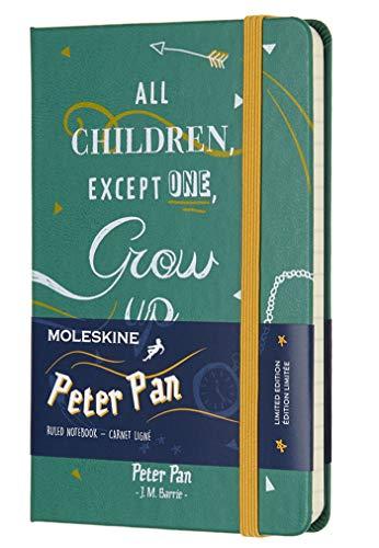 Moleskine notitieboek, Peter Pan, Hard Cover gelinieerd Pocket groen (malachiet)
