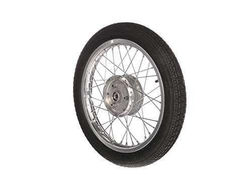 Preisvergleich Produktbild SIMSON-Komplettrad 1, 5x16 Zoll,  Alufelge und Chromspeichen,  mit Heidenau-Reifen K30 montiert