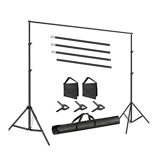 #N/A/a Kit de Sistema de Soporte de Telón de Fondo Bolsa Ajustable Portátil - Los 2x3m