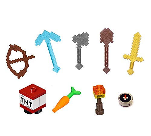minecraft weapon toys LEGO Minecraft Minifigure Accessory and Weapon Pack (for Steve Alex)