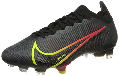 Nike Vapor 14 Elite FG, Scarpe da Calcio Unisex-Adulto, Black/Cyber-off Noir-Rage Green-Siren Red, 45 EU