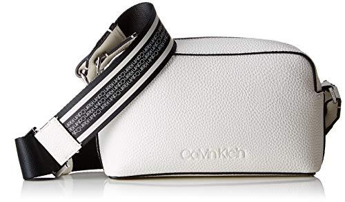 Calvin Klein - Race Crossbody, Bolsos bandolera Mujer, Blanco (Bright White), 8x20x13...