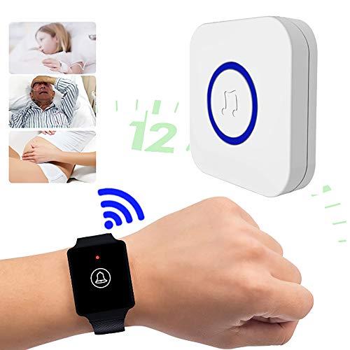 Wireless Handgelenk Pager, Caregiver Pager Krankenschwester Alarm Aufrufen, Wearable Wireless Watch Remote Help Caller, Wasserdicht Notruf Glocke, Für Ältere Menschen, Patienten Und Pflegepersonal