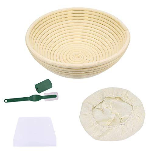 Banneton rijsmand,brood rijsmand met rijsdoekschraper Brood rijsmanden voor het bakken van ambachtelijke zuurdesem (22 * 8,5 cm)