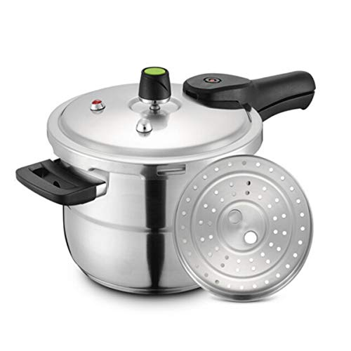 Xiaoxian Pressure Cooker, 20cm, Six Insurance, Magnetic Energy Stainless Steel Pressure Cooker, Gas, Induction Cooker, Universal, Kitchenware Best Choice Steamed out food (Size : 24cm)