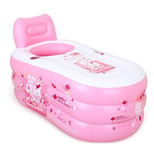 YWSZJ Plegable portátil Bañera Bañera de hidromasaje Espesado Inflable Plegable Mujer Sudor Baño de Vapor Cilindro de Aislamiento de la Cremallera