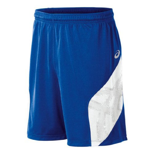 ASICS Men's Team Performance Volleyball Shorts, Royal/White, Small