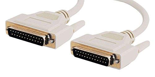 C2G 02673 DB25 M/M Serial RS232 Cable, Beige (75 Feet, 22.86 Meters)