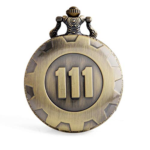 Yaye Hot Game Fallout 4 Theme Pendant Vault 111 Refuge Bronze Quartz Chain Pocket Watch with Gift Box