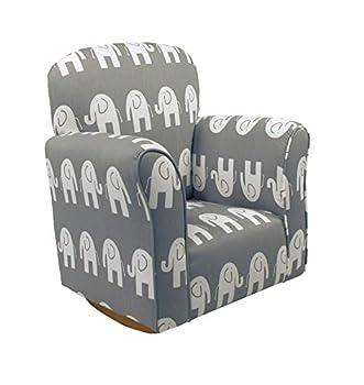 Brighton Home Furniture 3330-81 Child Rocker Elephant Grey Cotton One Size