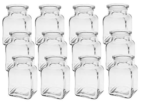 6/12/24 vierkante minivazen glazen flesjes kleine decoratieflessen flessen vazen vaas glazen flessen bloemenvaas