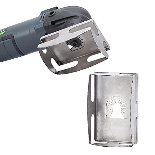 Cortador de ranura cuadrada de acero inoxidable con un solo paso en su lugar, cortador de toma de corriente de pared eléctrica de una sola unidad múltiples para plástico (Rectángulo)