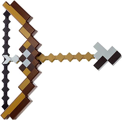 Pixel Mosaik Bogen und Pfeil Spielzeug-Set Kinder Geburtstag Party Abenteuer Kit Spitzhacke für Jungen und Mädchen nicht Minecraft (schwarz)