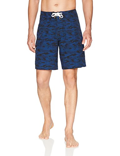 "Amazon Brand - Goodthreads Men's 9"" Inseam Swim Boardshort, Blue Camo, 40"