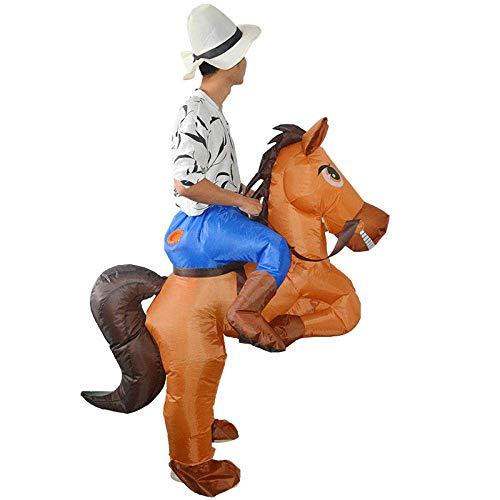 YLJYJ 2X Halloween Erwachsene aufblasbare Pferdekostüm Weihnachten Karneval Themenveranstaltungen Anziehpartys Parks Outdoor-Aktivitäten besonderen Anlass 150-190cm