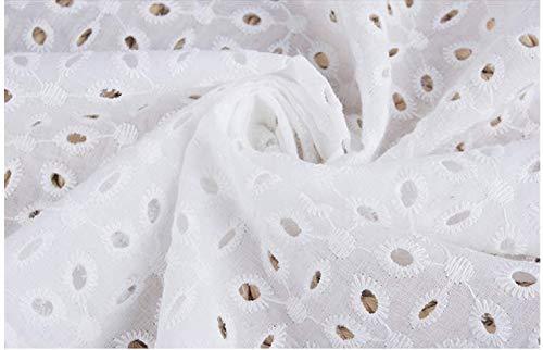綿 刺繍生地 綿布 国内発送 生地 布 自作キット手作り 繰り返し使える 裁縫 手作りキット 手芸 (刺繍生地M15413, 長さ2m*幅1.45m)