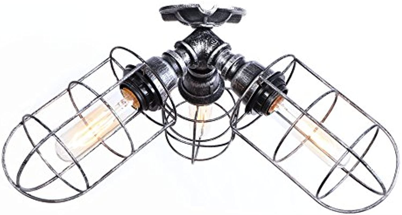 CHEYAL Retro Industrial Light DIY Iron Pipe Light Vintage Decke Light Pendant Lampe Halterung DREI Kpfe Hngende Leuchte Für Korridor Bar Loft Balkon Flur Dekor Edison E27